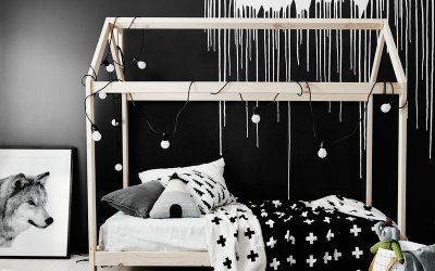 Monochrome Styling for Kids' Bedrooms
