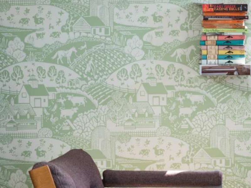 Gable Wallpaper from Farrow & Ball featured by Rooomy Magazine for kids bedrooms