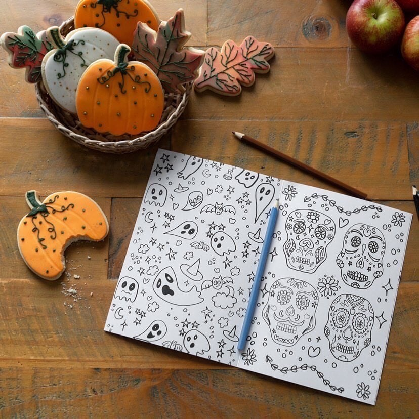 halloween colouring book from squidgearoo for the kids during half term
