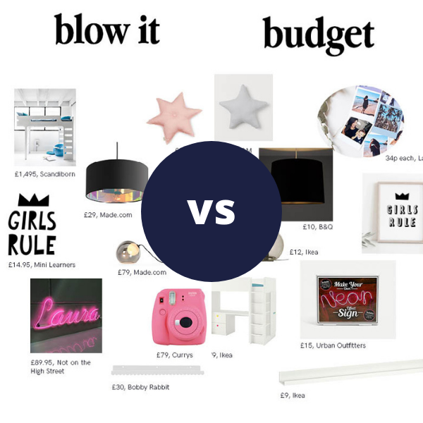 Rooomy magazine top feature blow it vs budget for kid's bedrooms