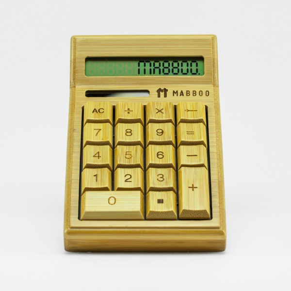 bamboo calculator, rooomy magazine sustainability gofts for kid's