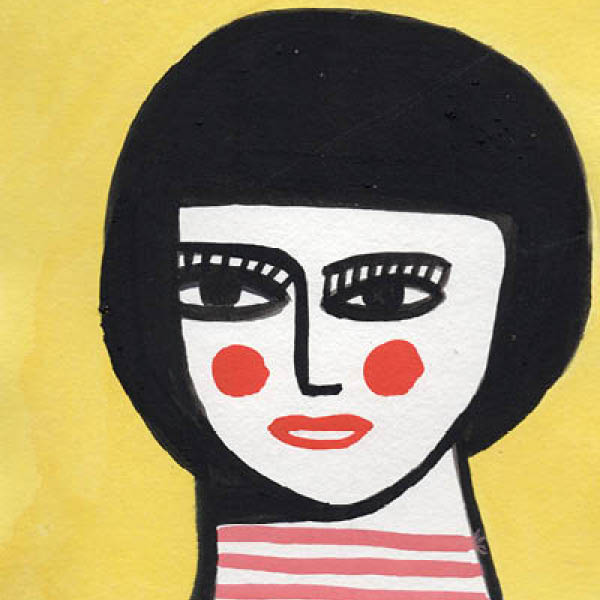 Girl on Yellow by Margot McDaid