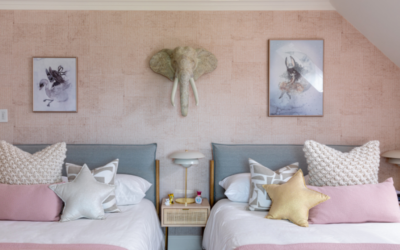 Girls Pink Shared Bedroom