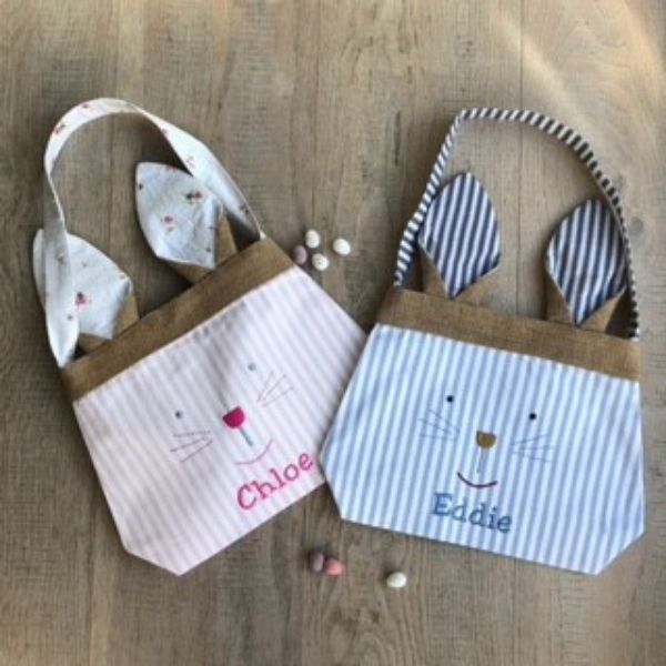 Personalised Bunny Bag from Lime Tree London for kids this easter