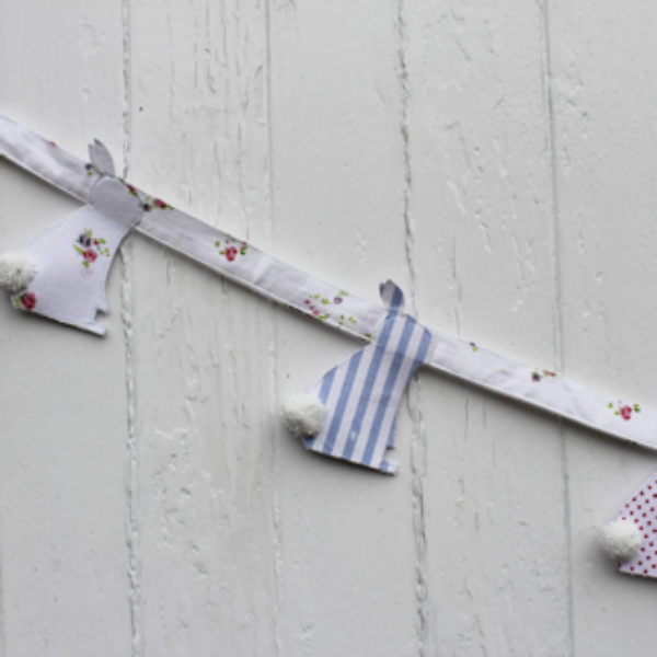 East Bunny Bunting from Lime Tree London for kid's bedrooms