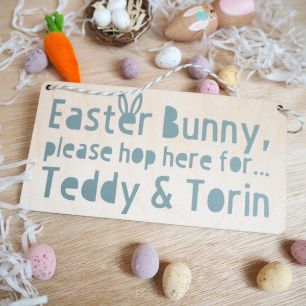 Easter Bunny Sign for the kid's