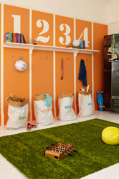 Dulux Sports themed room, creative director expert tips as seen in rooomy magazine