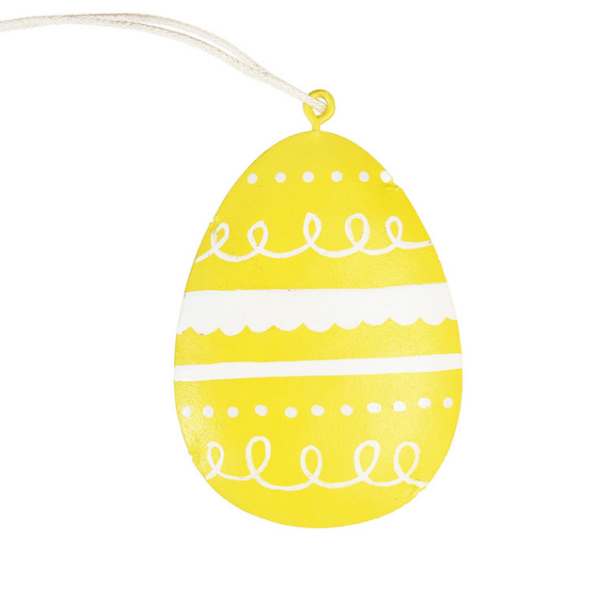 Yello Easter Egg Decoration from Rex London for kids' bedrooms as seen in rooomy magazine