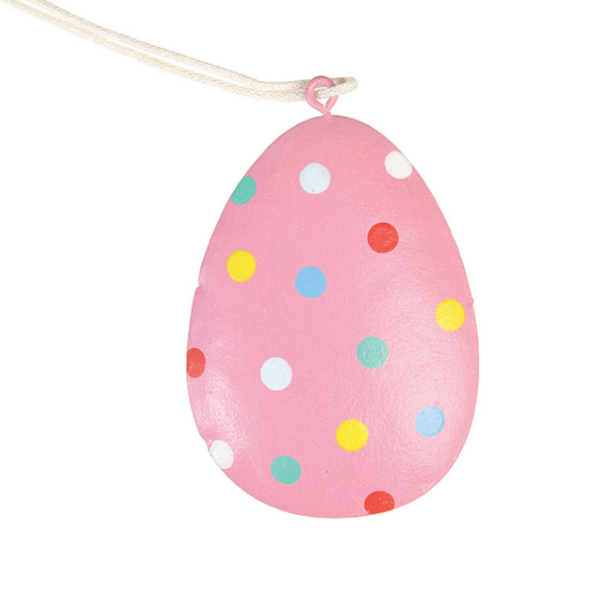 Pink Polka Dot Easter Egg from Rex London for kid's bedrooms
