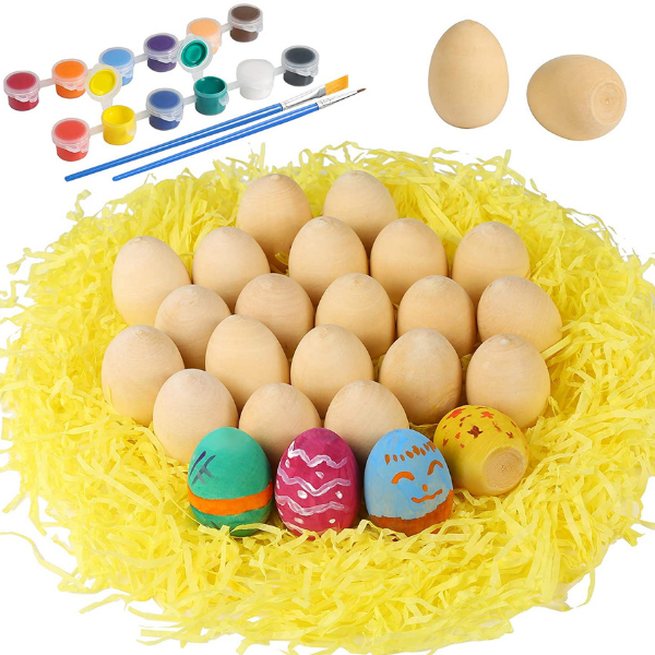Mini Wooden Eggs Decorating kit for the kids this Easter