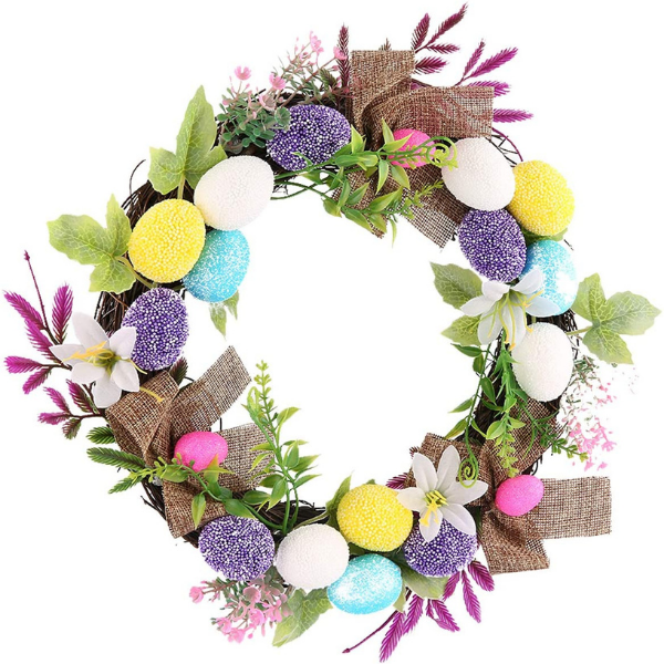 Best Easter decorations for kid's bedroom featuring an Easter wreath