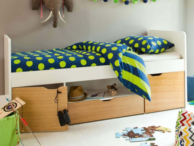 Southside Oak Cabin Bed for kids bedrooms from Aspace