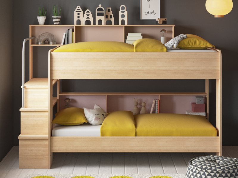 Bunk Bed with Shelves from Wayfair