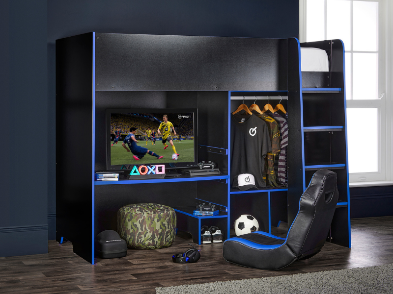High Sleeper Gamers Bed from Wayfair featured by Rooomy Magazine