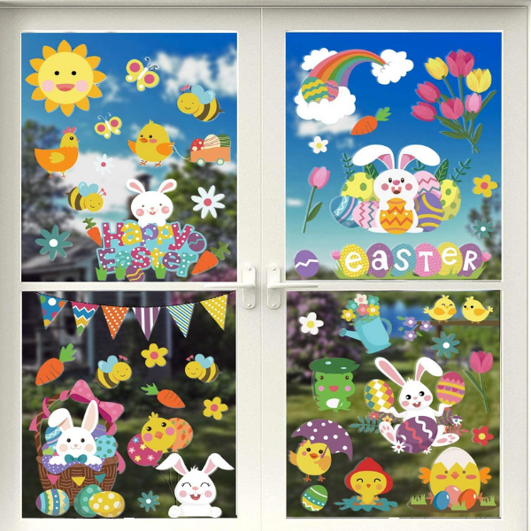 Best Easter Decoration for Kid's Bedrooms, window stickers for kids bedrooms