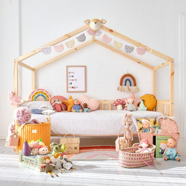 Side House Bed with Rail for kids bedroom from Bobby Rabbit featured by Rooomy Magazine