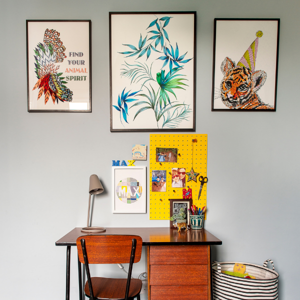 Maximalist art for boys rooms as seen in rooomy magazine