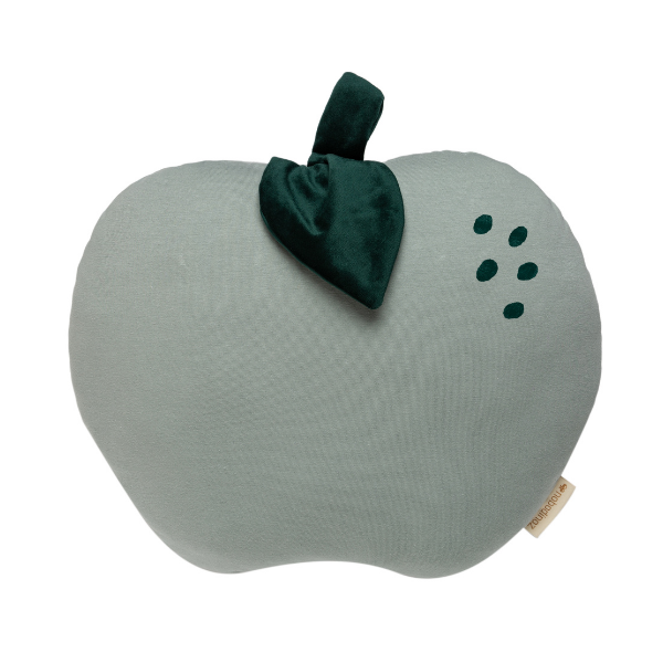 Apple cushion Nobodinoz as seen in Rooomy magazine