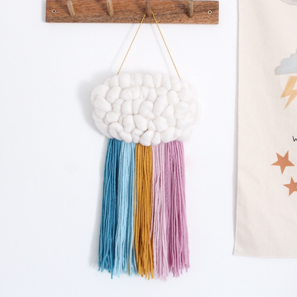 Woven Cloud Wall Hanging as seen in Rooomy magazine