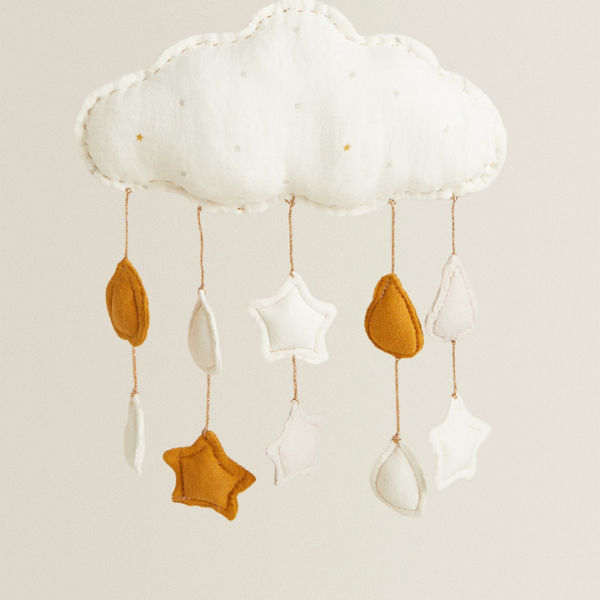 Cloud and Star Mobile as seen in rooomy magazine from zara home