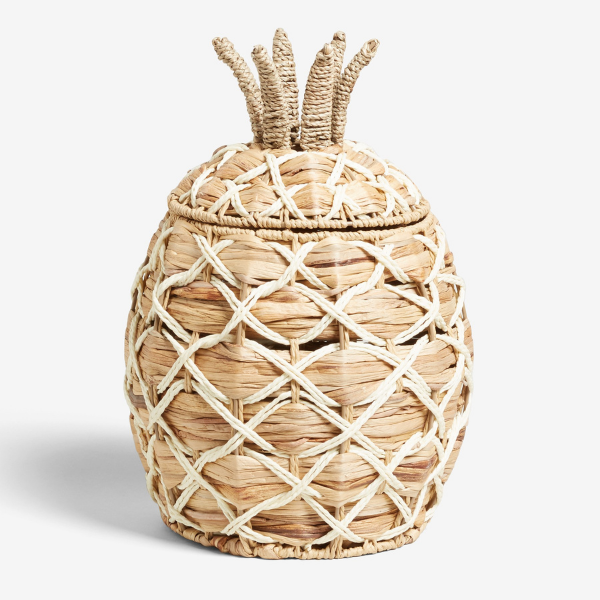 Pineapple Storage Basket from Next as seen in rooomy magazine