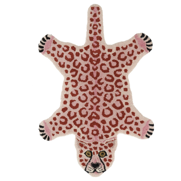 Pink Leopard Rug by Doing Goods as seen in rooomy magazine