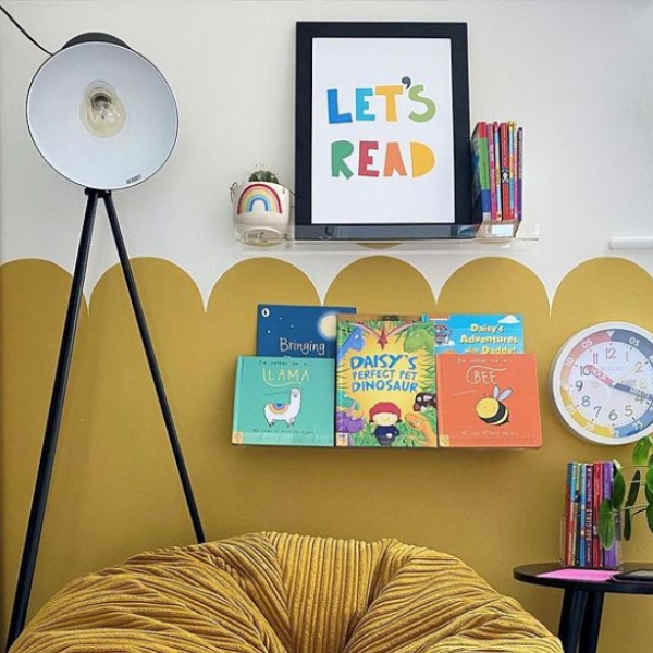 Reading Corner of girls room as seen in rooomy magazine