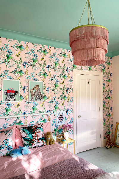 Max Made Me wallpaper for girls rooms as seen in rooomy magazine
