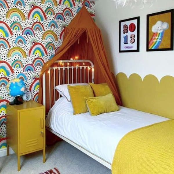 Colourful girls bedroom as seen in rooomy magazine