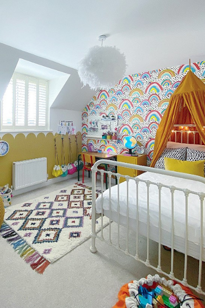Girls Colourful Bedroom as seen in Rooomy magazine