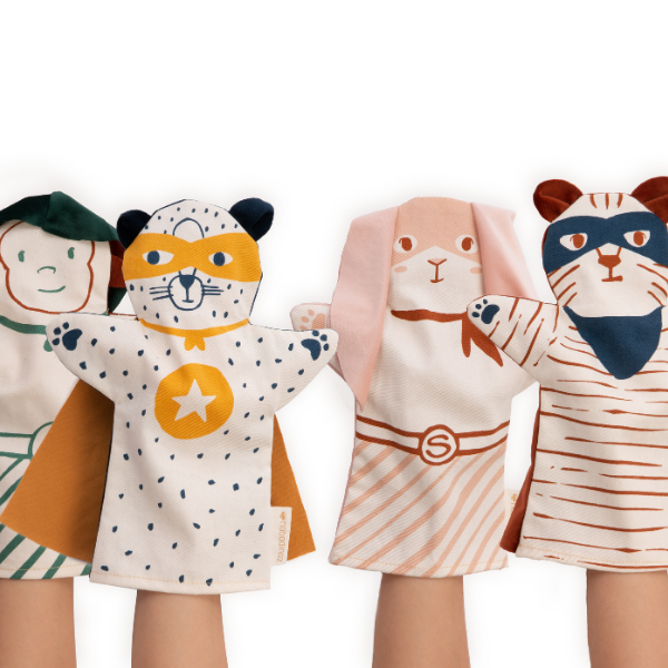 Nobodinoz Hand Puppets as seen in Rooomy magazine
