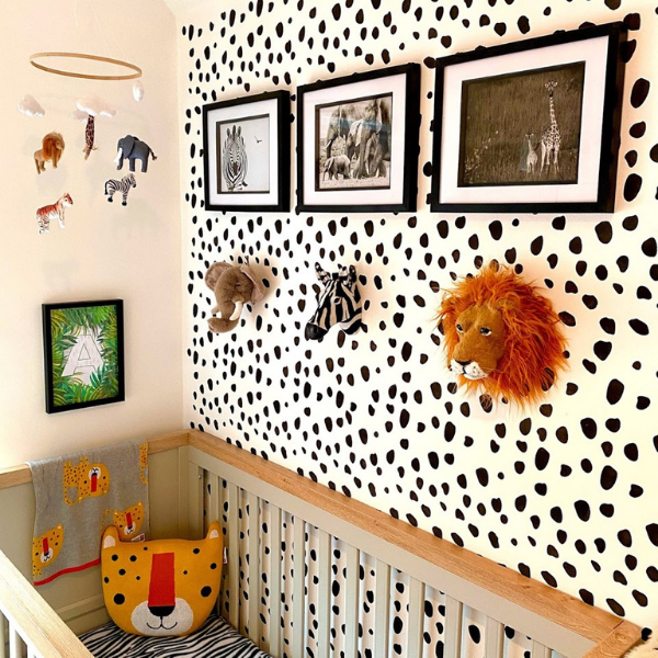 Spotty Walls and Animal Heads